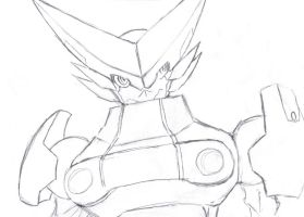 Omega Shoutmon -pencil by Zeromaru-x