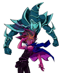 Stardust Pharaohs: Atem and Magician Black by KaleiC
