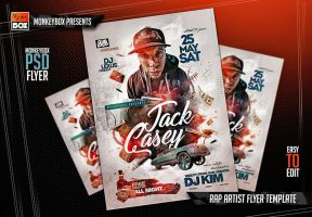 Rap Artist Flyer Template by AndyDreamm