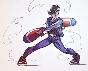 Battle Artist - Space Dandy by dafrek