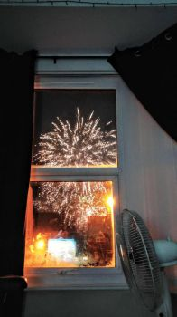 Fireworks from bed by divinexdeath