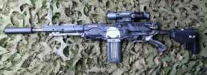 Customised Nerf long shot Punisher by dog-green-1