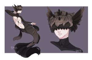 [Auction] Mermay Adopt Day 04 [Darkness] CLOSED by Tmis-Adopts