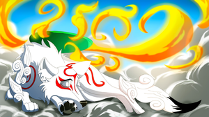 Sleepy Amaterasu - Okami (Fire Version) by EpicSaveRoom