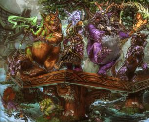 Dance of the druids by The-SixthLeafClover