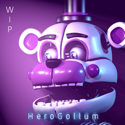 Funtime Freddy WIP (Cinema 4D) by HeroGollum