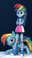 Rainbow dash by vinuldash