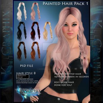 Instant Hair PSD Stock - Liliana | hi res 300dpi by MakeMeMagical