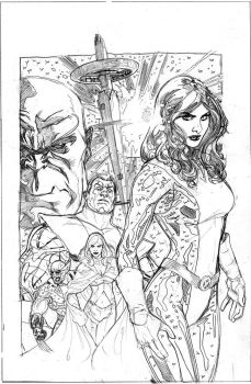 Uncanny X-Men 535 Cover Pencil by TerryDodson