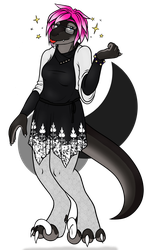 A Silvery Raptoress (2018 B-Day Gift for Rebecca) by QuetzaDrake
