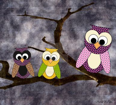 3 Owls by MellieR