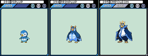 Piplup, Prinplup and Empoleon