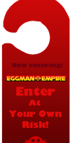 Door sign: Eggman by NoxidamXV