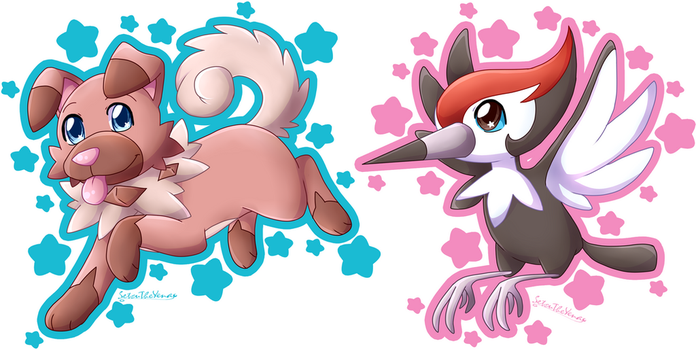 Iwanko and Pikipek by Setsuna-Yena