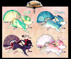 Flower, plant themed Foxfans /Auction/  CLOSED by Belliko-art