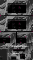 Pure Black Glass Pink Theme Win10 April 2018 by Cleodesktop