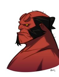 Hellboy and stuff by E-Mann
