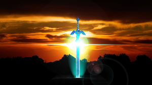 Master Sword (Spazzygamergirl request Wallpaper) by Hardii