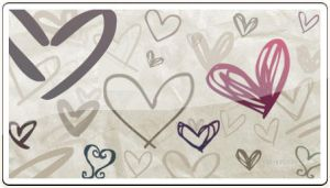 Hand Drawn Hearts by ammmy
