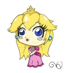 Princess peach Chibi by QueenLionz