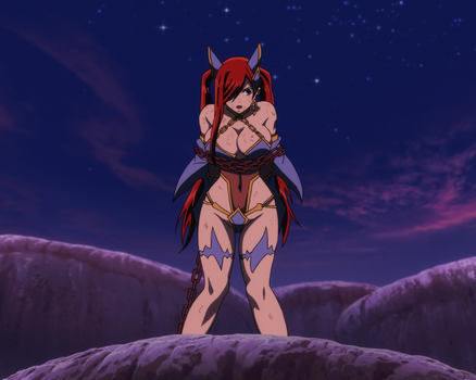 Erza chained by Movi-Viento