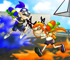 Splatoon - Inklings by gagaman92