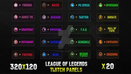 League Of Legends - Twitch Panels by lol0verlay