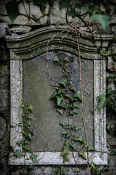 gravestone stone by no-trespassing