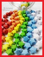 Colorful Lucky Stars by Michaela9