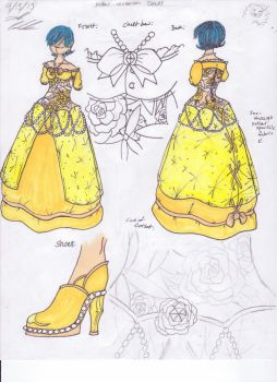 Yellow Rose Dress by DemonKing113