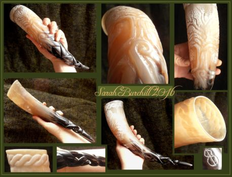 Tree of Life braided drinking horn by fairyfrog