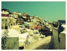 Greece- Colorful Santorini by Mantot