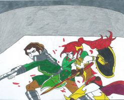 Pyrrha Nikos Vs Kuvira by Bluexorcist93