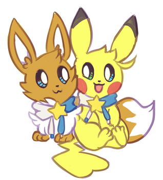 Mochi and Hoshi by Flavia-Elric