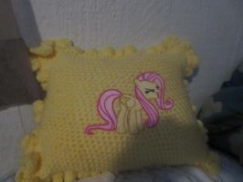 Fluttershy yay pillow by PonyEnterprisesII