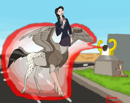 News Reporter as a Hippogryph-Taur by Patchi1995