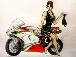 Lara Croft ducati by hiropon056