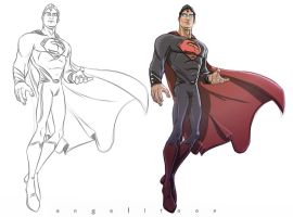 superman  Style test by angelitoon