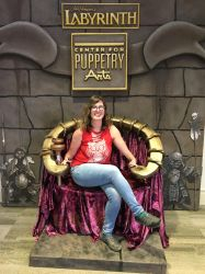 Chilling on the Goblin King's throne by Kiyomi-chan16