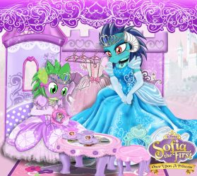 Commission- the little dragon's tea party by AVCHonline