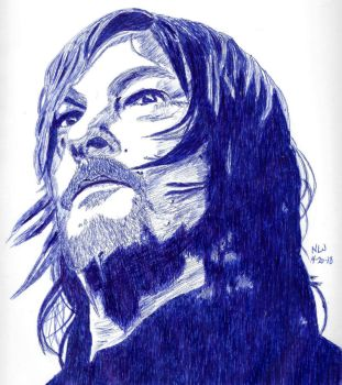 Norman Reedus in Blue by X-Enlee-X