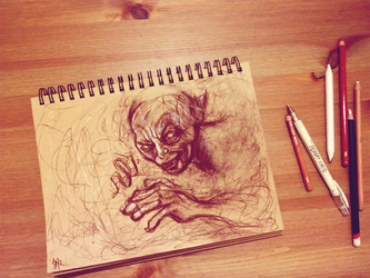 Gollum sketch by V-Cantabile