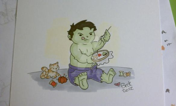 Hulk sewing by beckadoodles