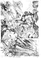 JLA 1999 ANNUAL ART NEVER PUBLISHED PAGE 7 by Johnny-Retro65