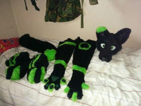 Partial fursuit commission for Nexii by Keevanw