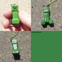 Creeper Minecraft Charm by ChibiSilverWings