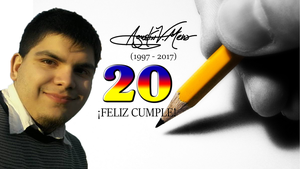 Happy Birthday! Agustin V. Mena! 20th Wallpaper by AVM-Cartoons