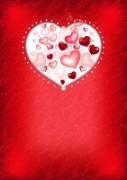 Free Valentines Vector Background by vectorcity