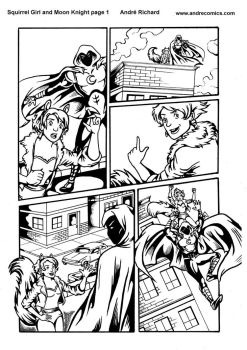Squirrel Girl and Moon Knight sample page 1 by AndrePaploo
