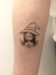 Witch - Handpoked Tattoo by lagoliv